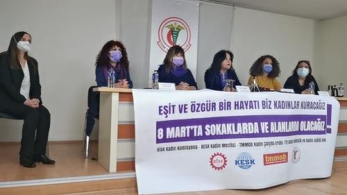 Eşit ve Özgür Bir Hayatı Biz Kadınlar Kuracağız, 8 Mart'ta Sokaklarda ve Alanlarda Olacağız!
