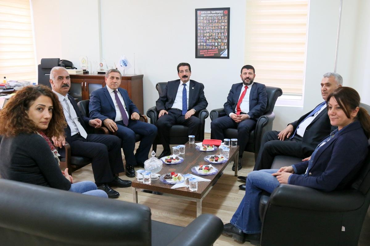 CHP'DEN KESK'E ZİYARET!