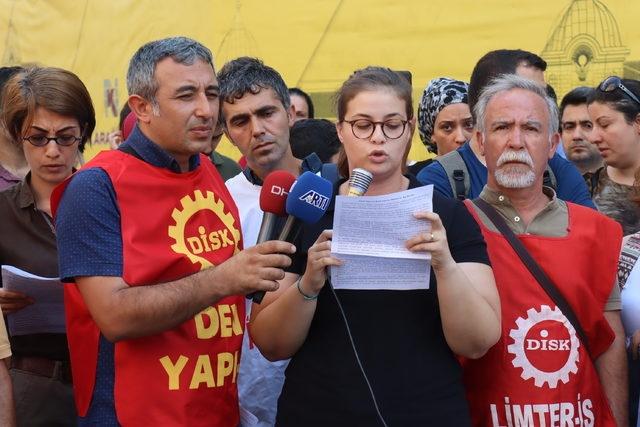SENDİKAMIZ ve EMEK ÖRGÜTLERİ İŞ CİNAYETLERİNİ PROTESTO ETTİ